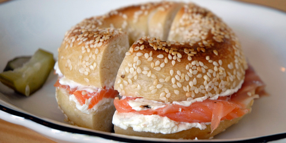 Bagel with Cream Cheese & Lox